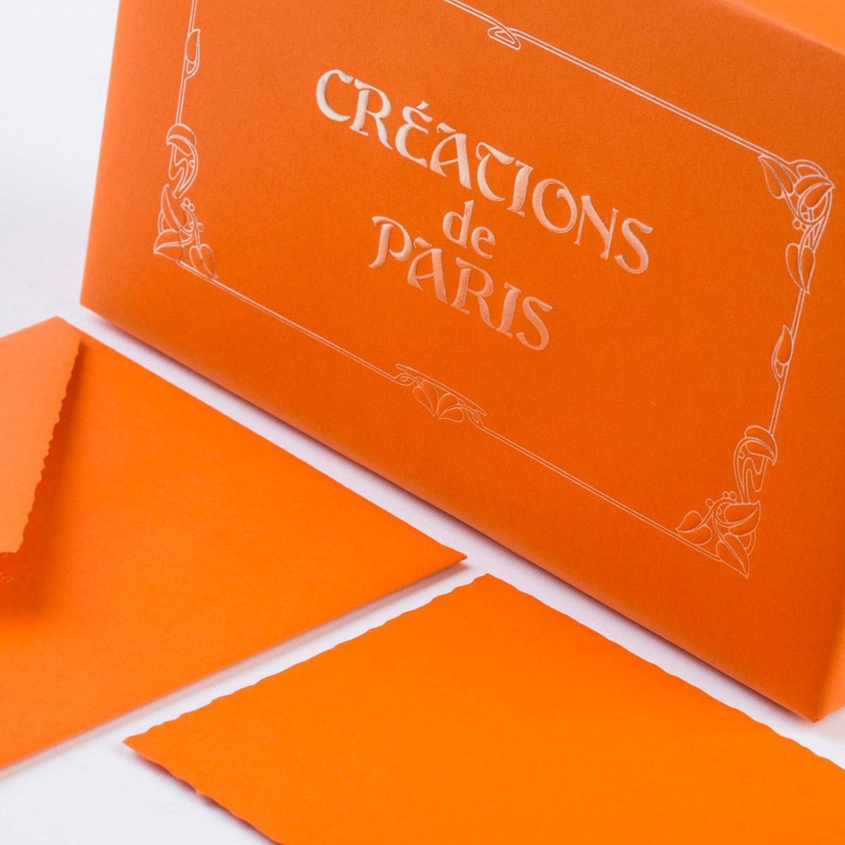 Cartoleria di lusso arancione
